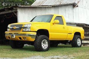 "2005 Chevrolet Silverado 1500 - 16.5x12 -25mm - Weld Racing Mountain Crusher - Suspension Lift 6"" - 33"" x 12.5"""