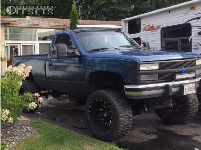 "1991 Chevrolet K1500 - 20x12 -44mm - Fuel Lethal - Suspension Lift 6.5"" - 35"" x 12.5"""