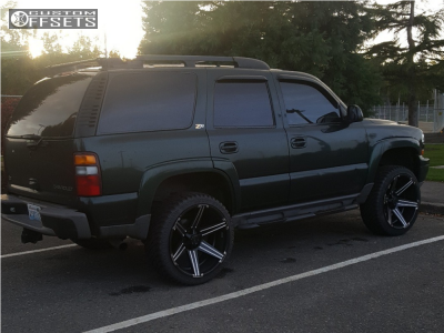 2001 Chevrolet Tahoe - 24x11 -45mm - Tuff T12 - Leveling Kit - 285/40R24