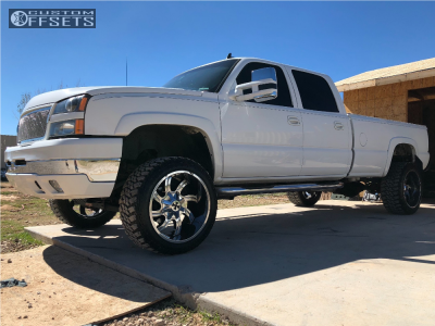 """2007 Chevrolet Silverado 3500 Classic - 22x12 -44mm - Cali Offroad Twisted - Leveling Kit - 35"""" x 12.5"""""""
