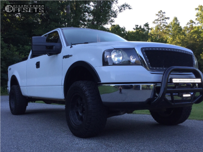 2007 Ford F-150 - 17x8 0mm - Pro Comp Series 89 - Leveling Kit - 285/70R17
