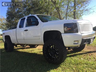 "2008 Chevrolet Silverado 1500 - 20x12 -44mm - Gear Off-Road Big Block - Suspension Lift 7"" - 35"" x 12.5"""