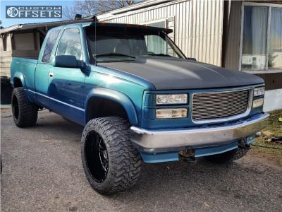 """1998 Chevrolet K1500 - 20x12 -51mm - Vision Rage - Body Lift 3"""" - 33"""" x 12.5"""""""