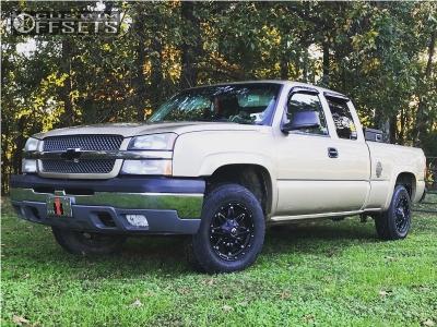 2004 Chevrolet Silverado 1500 - 17x8.5 25mm - Fuel Hostage - Leveling Kit - 275/65R17