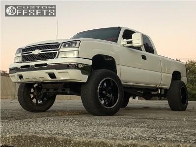 "2003 Chevrolet Silverado 1500 - 20x12 -51mm - Vision Cannibal - Suspension Lift 6"" - 35"" x 12.5"""