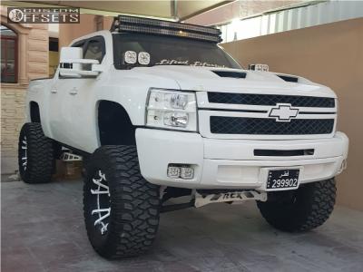 "2013 Chevrolet Silverado 1500 - 20x12 -44mm - Xd Rockstar 3 - Suspension Lift 7.5"" - 38"" x 15.5"""