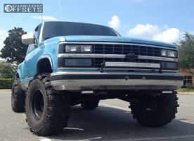 "1993 Chevrolet C1500 - 15x10 -46mm - Eagle Alloy Series 058 - Suspension Lift 5"" - 33"" x 12.5"""