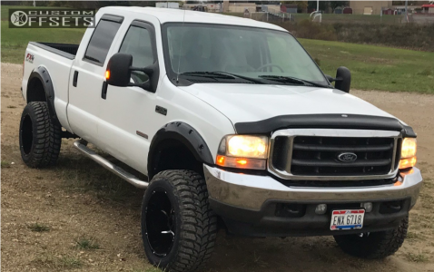 """2004 Ford F-350 Super Duty - 20x12 -51mm - Vision Prowler - Stock Suspension - 33"""" x 12.5"""""""