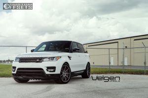 2015 Land Rover Range Rover Sport - 22x10.5 37mm - Velgen VMB9 - Stock Suspension - 285/35R22
