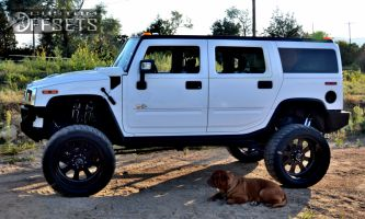 """2007 HUMMER H2 - 24x12 -38.1mm - American Force Recon SS - Suspension Lift 7"""" - 38"""" x 14"""""""