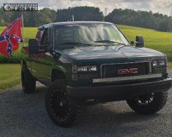 1996 GMC K1500 - 18x9 -12mm - Dropstars 645b - Leveling Kit - 285/65R18