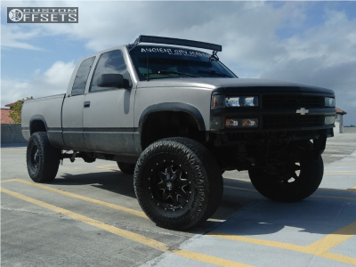 "1998 Chevrolet C1500 - 17x9 -12mm - Mayhem Tank - Suspension Lift 6"" & Body 3"" - 315/70R17"