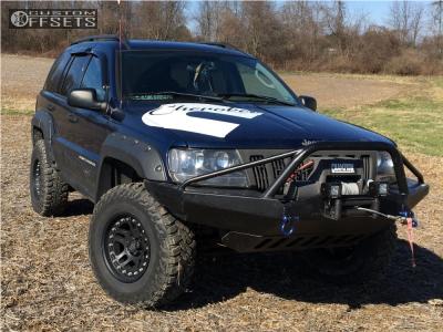 "2003 Jeep Grand Cherokee - 16x9 -12mm - American Racing Atx Ax195 - Suspension Lift 4"" - 285/75R16"