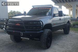"""2002 Chevrolet Silverado 1500 - 17x9 0mm - XD Crank - Suspension Lift 6.5"""" - 35"""" x 12.5"""""""