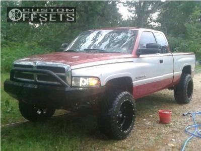 "1997 Dodge Ram 1500 - 20x12 -44mm - Fuel Hostage - Suspension Lift 3"" - 33"" x 12.5"""