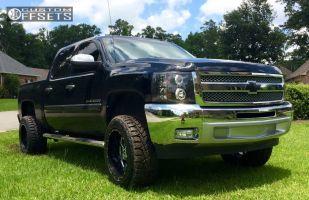 """2013 Chevrolet Silverado 1500 - 20x12 -44mm - Fuel Renegade - Suspension Lift 5"""" - 33"""" x 12.5"""""""