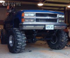 "1990 Chevrolet K1500 - 15x14 -88.9mm - Weld Racing Super Single - Lifted >9"" - 40"" x 18.5"""