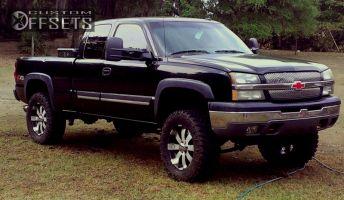 "2003 Chevrolet Silverado 1500 - 20x10 -25mm - Ultra forces - Suspension Lift 6"" - 35"" x 12.5"""