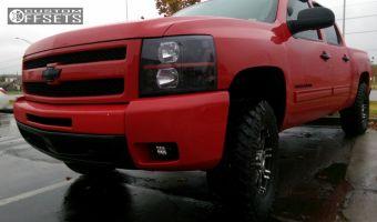 "2012 Chevrolet Silverado 1500 - 17x8 0mm - Helo HE835 - Suspension Lift 3"" - 265/70R17"