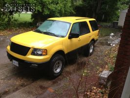 """2004 Ford Expedition - 17x9 25mm - Raceline Renegade 6 - Suspension Lift 3"""" - 35"""" x 12.5"""""""
