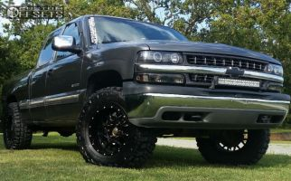 "2001 Chevrolet Silverado 1500 - 18x9 -12mm - Dropstars 645b - Leveling Kit - 35"" x 12.5"""