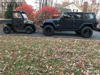 """2017 Jeep Wrangler - 20x12 -24mm - XF Offroad Xf-204 - Suspension Lift 3.5"""" - 35"""" x 12.5"""""""