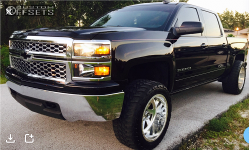 "2015 Chevrolet Silverado 1500 - 20x12 -51mm - Fuel Forged Ff02 - Leveling Kit - 33"" x 12.5"""