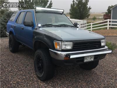 "1992 Toyota 4Runner - 15x8.5 -6mm - Mb Wheels Tko - Stock Suspension - 31"" x 10.5"""