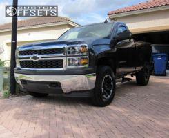 2015 Chevrolet Silverado 1500 - 17x8.5 6mm - Dick Cepek Torque - Leveling Kit - 285/70R17