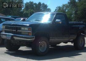 "1990 Chevrolet Silverado 1500 - 15x10 -38mm - American Racing Outlaw II - Body Lift 3"" - 33"" x 12.5"""
