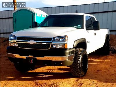 "2007 Chevrolet Silverado 2500 HD Classic - 20x12 -44mm - Red Dirt Road Dirt - Leveling Kit - 33"" x 12.5"""
