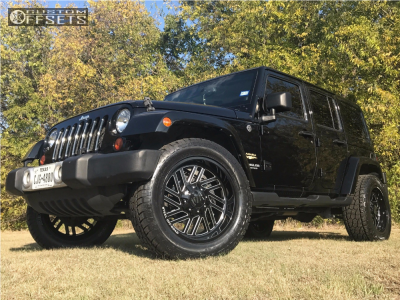 """2017 Jeep Wrangler - 20x10 -12mm - Steel Off-Road SD310 - Suspension Lift 2.5"""" - 305/55R20"""