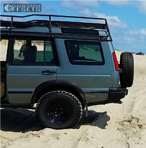 """2004 Land Rover Discovery - 16x8 25mm - RoversNorth Vented Steel - Suspension Lift 3.5"""" - 265/75R16"""