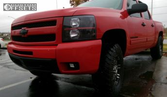 "2012 Chevrolet Silverado 1500 - 17x8 0mm - Helo He835 - Suspension Lift 3"" - 265/75R17"