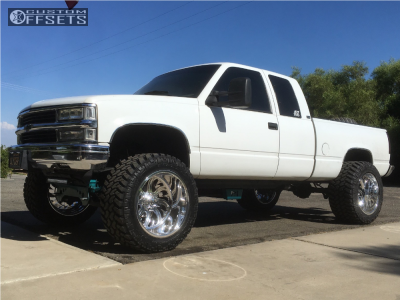 """1994 Chevrolet K1500 - 22x14 -76mm - Fuel Forged Ff36 - Suspension Lift 6.5"""" - 375/45R22"""