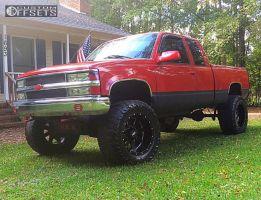 "1996 Chevrolet K1500 - 20x12 -44mm - Moto Metal MO962 - Suspension Lift 6"" - 37"" x 13.5"""