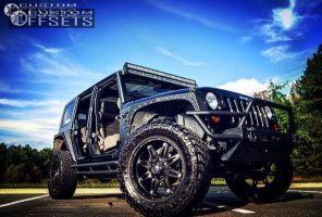 "2010 Jeep Wrangler - 20x9 -12mm - Fuel Hostage - Suspension Lift 3"" - 35"" x 12.5"""