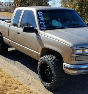 """1998 GMC K1500 - 20x12 -44mm - Red Dirt Road Rd01 - Stock Suspension - 33"""" x 12.5"""""""