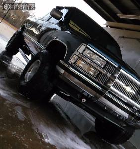 "1991 Chevrolet K1500 - 16x10 -25mm - American Racing Baja - Body Lift 3"" - 33"" x 12.5"""