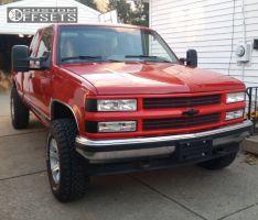 1995 Chevrolet K1500 - 16x8 0mm - American Racing ATX Predator - Stock Suspension - 245/75R16