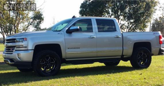 """2016 Chevrolet Silverado 1500 - 20x9 0mm - Hostile Havoc - Leveling Kit - 33"""" x 12.5"""""""
