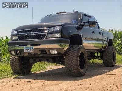 "2005 Chevrolet Silverado 2500 HD Classic - 20x12 -40mm - American Force Rebel Ss - Suspension Lift 6"" - 36"" x 15.5"""