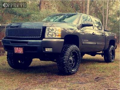 """2010 Chevrolet Silverado 1500 - 20x10 -12mm - Fuel Krank - Suspension Lift 7.5"""" - 35"""" x 12.5"""""""
