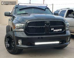 2014 Ram 1500 - 20x14 -76mm - Fuel Maverick - Lowered on Springs - 305/50R20