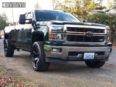 2015 Chevrolet Silverado 1500 - 20x10 -18mm - Fuel Beast - Leveling Kit - 305/50R20