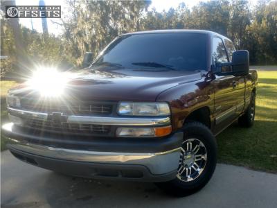 1999 Chevrolet Silverado 1500 - 16x8 0mm - Vision Warrior - Leveling Kit - 265/75R16