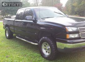 2006 Chevrolet Silverado 1500 - 16x9 18mm - Pacer 164 - Leveling Kit - 305/75R16