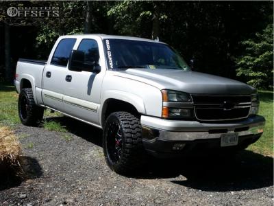 """2006 Chevrolet Silverado 1500 - 20x10 -24mm - Havok H109 - Leveling Kit - 33"""" x 12.5"""""""