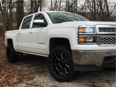 2015 Chevrolet Silverado 1500 - 20x10 -19mm - Gear Off-Road Big Block - Leveling Kit - 285/55R20