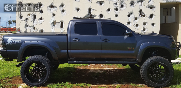 """2015 Toyota Tacoma - 24x12 -51mm - Fuel Forged Ff45 - Suspension Lift 6"""" & Body 3"""" - 37"""" x 13.5"""""""